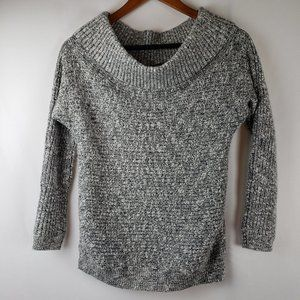 Express Gray Cowl Neck Oversized Sweater